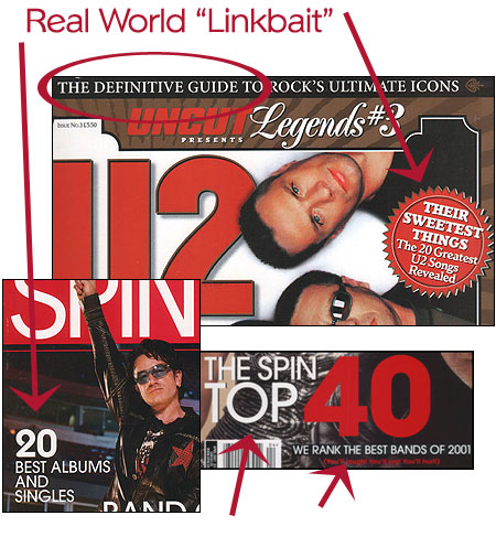 magazine 'linkbait' examples