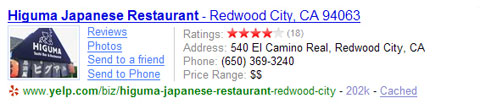 Yelp on Yahoo