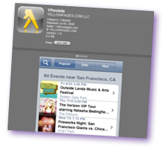 Yellow Pages iPhone app