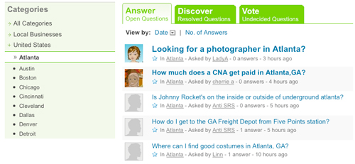yahoo answers screenshot